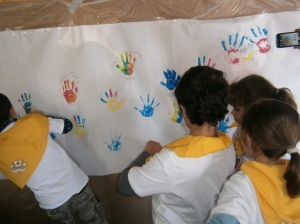 Mural solidario en FundHos