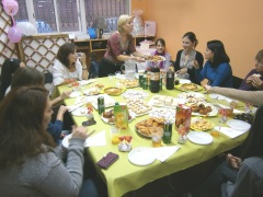 Comida en el baby shower de Gema