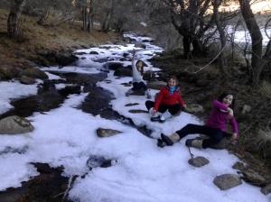 Arroyo congelado