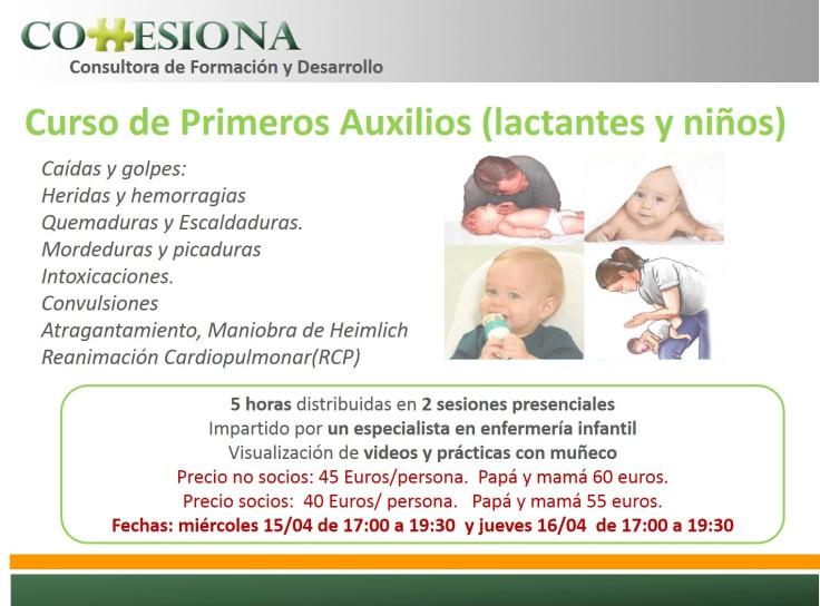 PresentaciónCursoPrimerosAuxiliosAbril2015