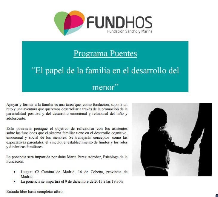 FundHos_2015_PONENCIA_EL_PAPEL_DE_LA_FAMILIA_EN_EL_DESARROLLO_DEL_MENOR